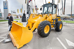 Yellow diesel front end loader Stock Image