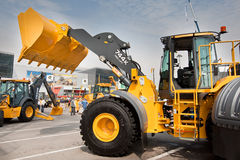 Yellow diesel front end loader Stock Images