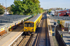 Yellow Diesel Passenger Train Stock Images