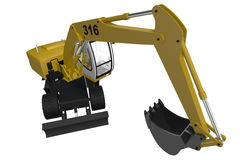 Yellow Digger Royalty Free Stock Image