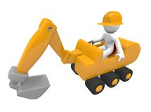 Yellow digger Stock Photo