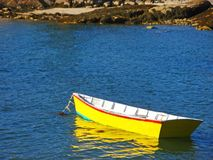 Yellow Dinghy Royalty Free Stock Photos
