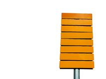 Yellow direction sign stock photo