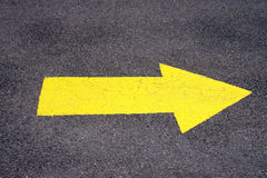 Yellow Directional Arrow Royalty Free Stock Photo
