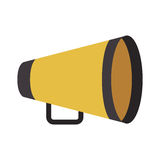 Yellow director megaphone. Icon over white background. cinema design. vector illustration Royalty Free Stock Images