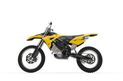 Yellow Dirt Bike - Side View Stock Image
