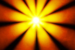 Yellow disco light in a sun star shape Stock Photos