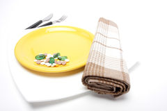 Yellow dish Stock Images