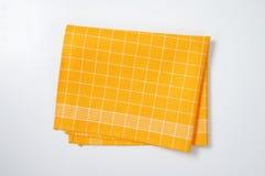 Yellow dishtowel Stock Image