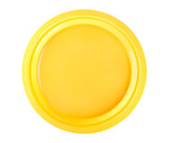 Yellow disposable plate Royalty Free Stock Photos