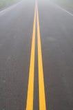 Yellow dividing lines Stock Photo
