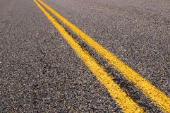 Yellow dividing lines Stock Photography