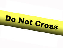 Yellow Do Not Cross Barrier Tape. A Yellow Do Not Cross Barrier Tape Stock Photo