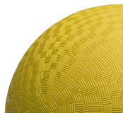 Yellow Dodge Ball Close Up Royalty Free Stock Photos
