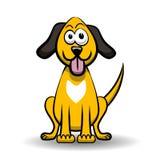 Yellow dog cartoon Stock Image