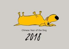 Yellow Dog Poatcard Stock Image