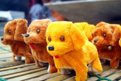 The yellow dog toys Royalty Free Stock Photography