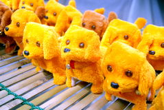 The yellow dog toys Royalty Free Stock Image