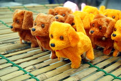 The yellow dog toys Royalty Free Stock Photo