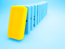 Yellow domino Stock Images