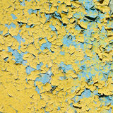 Yellow doncrete painted old wall texture Stock Photography