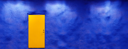 Yellow door Stock Photography