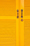 Yellow door. Royalty Free Stock Images