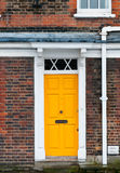 Yellow door Stock Photo