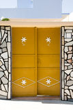 Yellow door Stock Photos