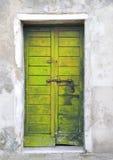 Yellow door. In the island of Giudecca in Venice Stock Photos