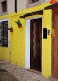 Yellow, Door, Wall, Architecture stock images