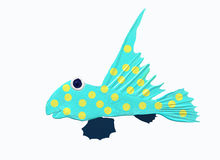 Yellow dots. A marine fish with yellow dots Royalty Free Stock Photos