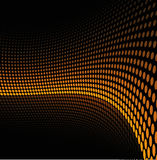 Yellow dots background Stock Photography