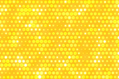 Yellow dots background. A lot of dots on yellow background Stock Photo