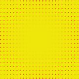 Yellow Dotty Retro Comic Book Style Background, pop art vector i royalty free illustration