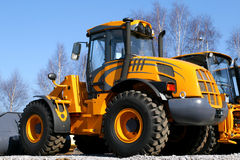 Yellow dozer Royalty Free Stock Photo