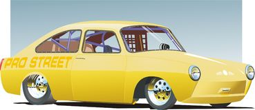 Yellow Drag Car Royalty Free Stock Photos