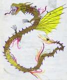 Yellow Dragon Royalty Free Stock Photo