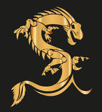 Yellow Dragon Vector Royalty Free Stock Images