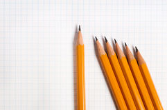 Yellow drawing pencils Stock Photography