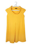 Yellow dress. Yellow female dress isolated on the  white  backrgound Stock Photo