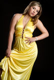 Yellow Dress Fashion Stock Photo