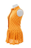 Yellow dress on a hanger Royalty Free Stock Photography