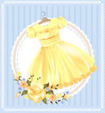 Yellow dress Stock Images