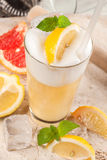 Yellow drink with apple, apricot Stock Photography
