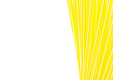 Yellow drinking straws close-up background, plastic tubes Royalty Free Stock Photos