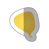 Yellow drop chat bubble icon. Illustraction design Royalty Free Stock Image