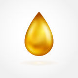 Yellow drop of oil icon Royalty Free Stock Images
