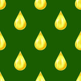 Yellow Drops Seamless Pattern Royalty Free Stock Photography