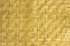 Yellow dry sheet woven from bamboo. natural surface texture. vertical and horizontal lines stock photos